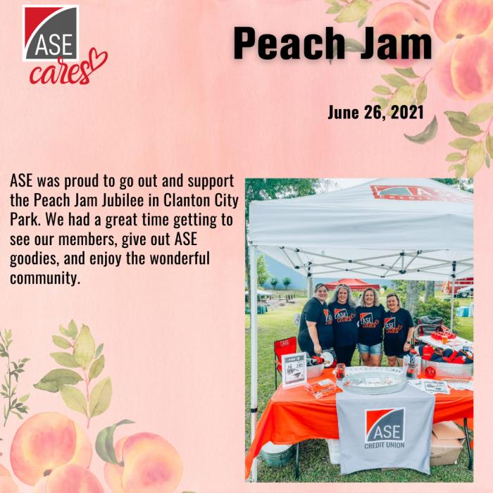 Clanton Peach Jam Ase Cares 1